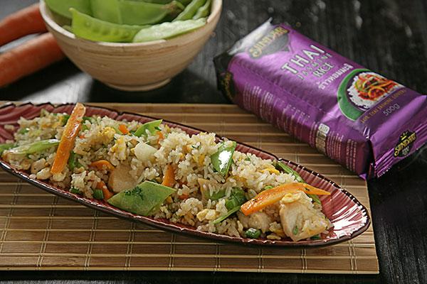 Receta de Recetas tradicionales: Arroz Thai frito con pollo