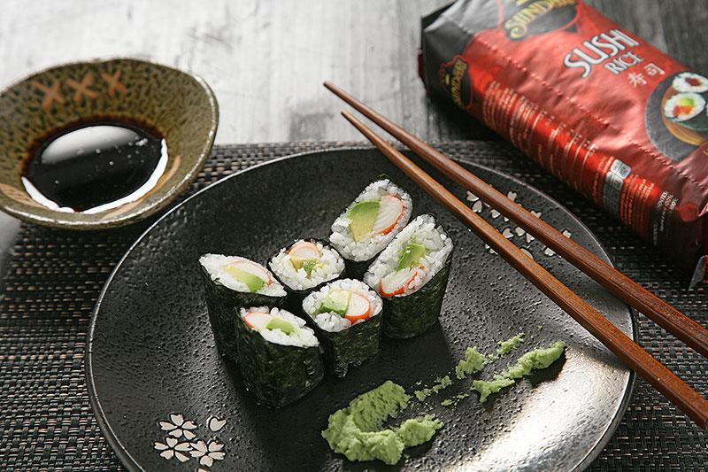 Receta de Receta de Maki de aguacate y cangrejo