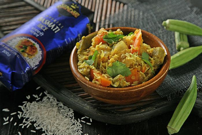 Receta de Sambar con arroz basmati