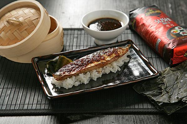 Receta de Caballa teriyaki con arroz