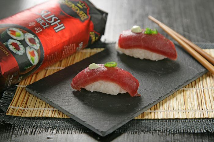 Receta de Niguiris de atún con mayonesa de wasabi