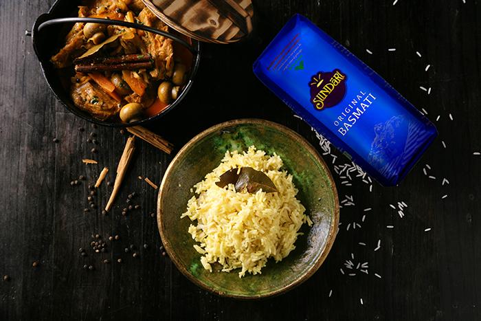 Receta de Guiso de cerdo con arroz basmati especiado