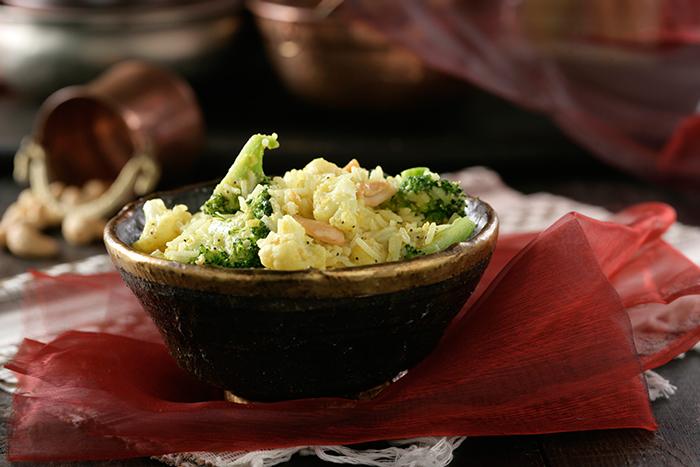 Receta de Arroz frito con coliflor y brócoli
