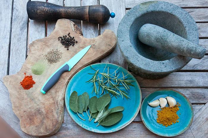 especias en la cocina exótica india