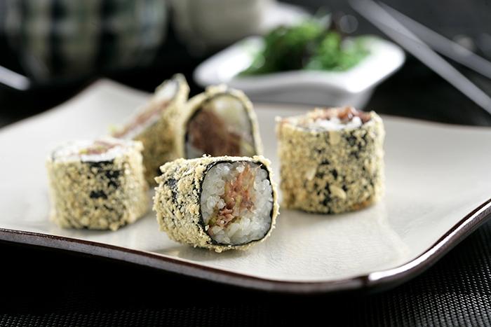 Receta de Maki en tempura de confit de pato y micuit
