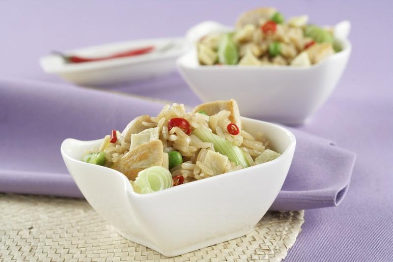Receta de Arroz frito con pollo – Receta Arroz Thai – Sundari