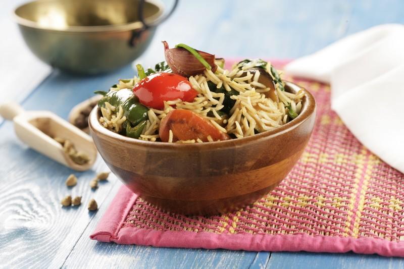Receta de Estofado de verduras con arroz Basmati