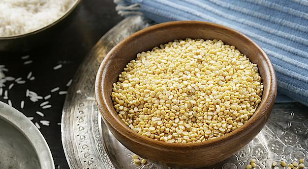Una imagen del ingrediente Ghana Dal (Lenteja amarilla)