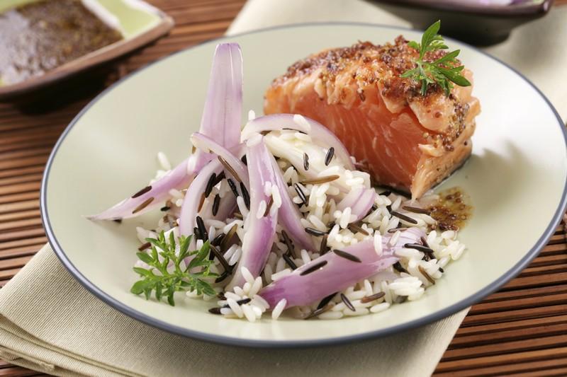 Receta de Salmon a la parrilla – Arroz Salvaje – Sundari