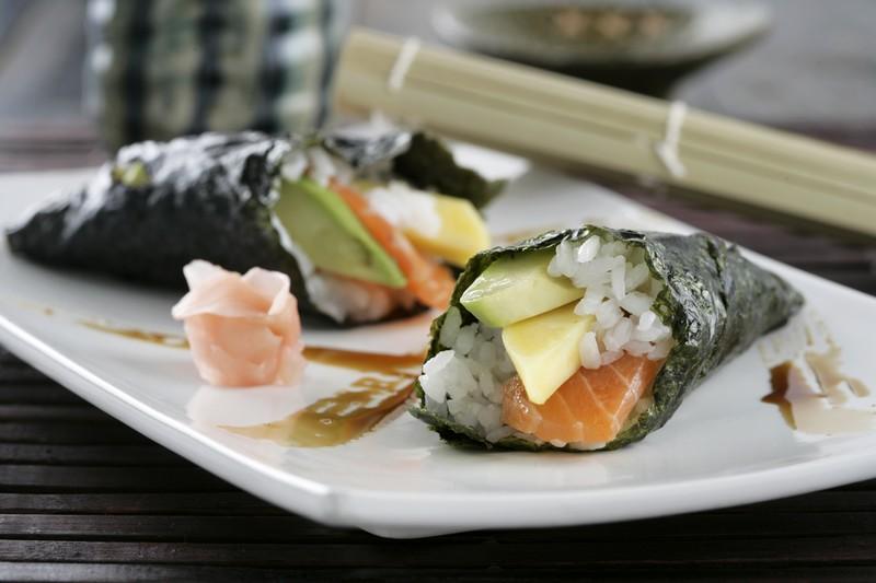 Receta de Temaki de salmón – Receta Arroz Sushi