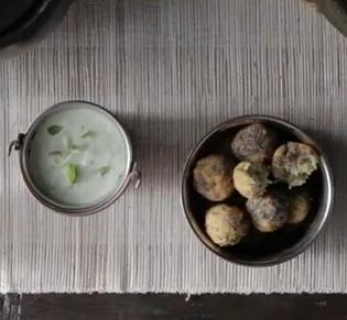 Receta de Buñuelos de Basmati y Dal en salsa picante (koftas vegetarianas)
