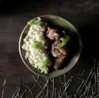 Receta de Pollo Tikka Massala con arroz al curry verde