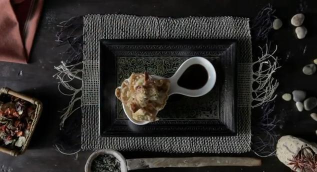 Receta de Wantan frito de arroz Sauvage y gambas