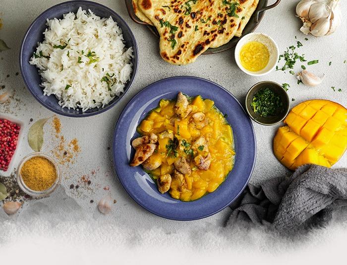 Receta de Arroz Basmati con Pollo y Chutney de Mango