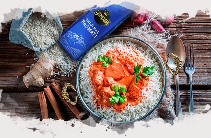 receta-pollo-tandoori-con-paquete-de-arroz-basmati-sundari-y-canela-en-rama