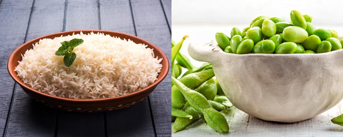 arroz basmati y edamame