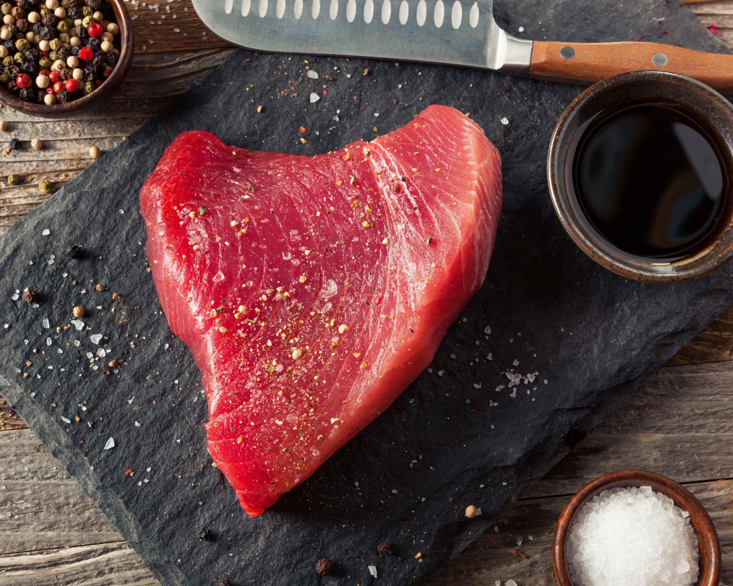 filete de atún fresco