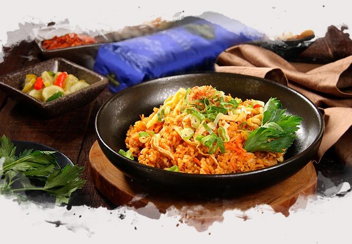 Receta de Nasi Goreng de Pollo Tradicional de Indonesia